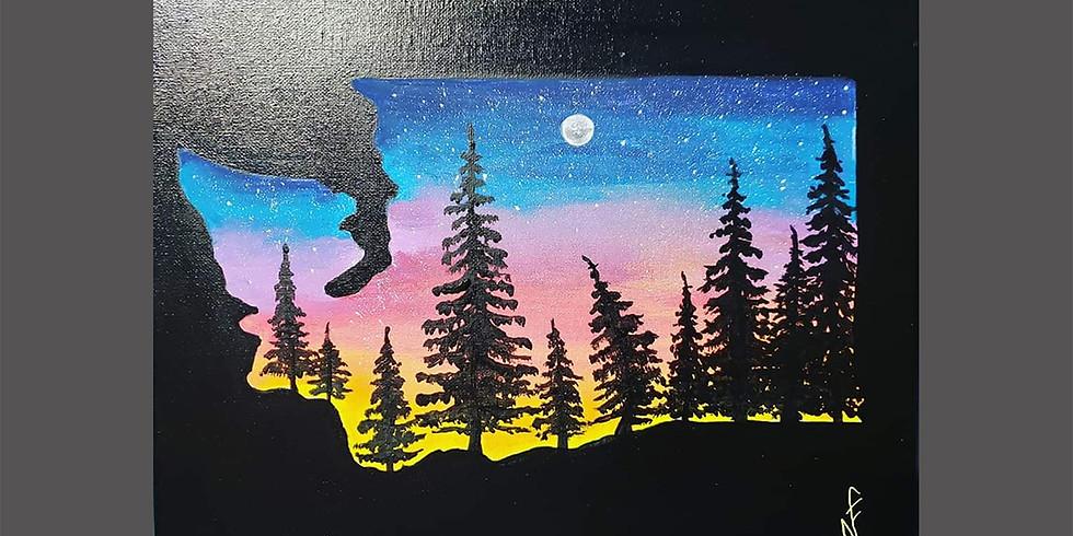 Washington Forest Canvas IN-STUDIO Workshop