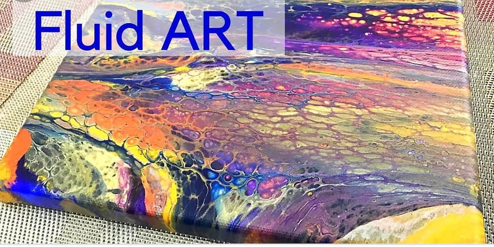 DIY Fluid Art - Acrylic Pour Canvas Workshop