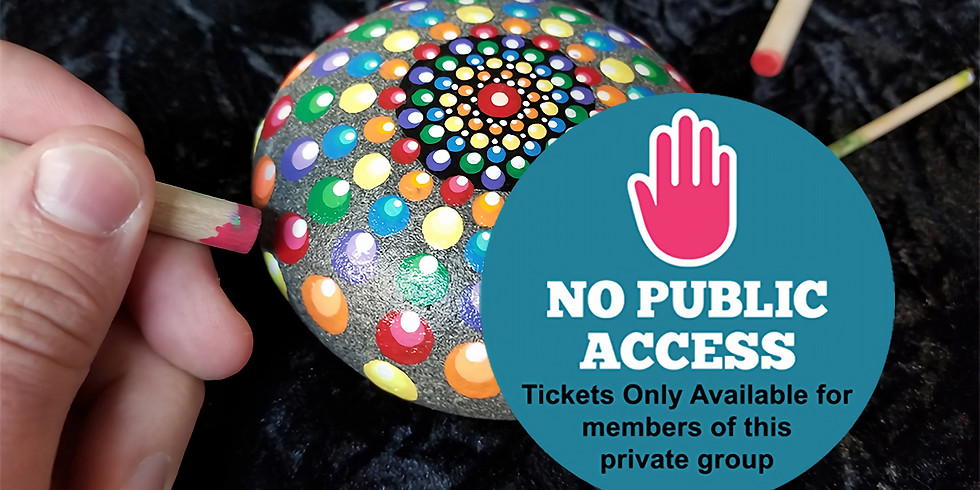 PRIVATE EVENT (NO public tickets available): Mandala Stones IN-STUDIO Workshop
