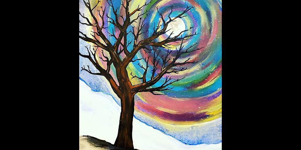 Winter Solstice Sky Canvas LIVE ONLINE Workshop