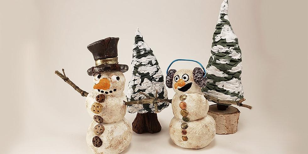 Rustic Snowmen & Tree Workshop