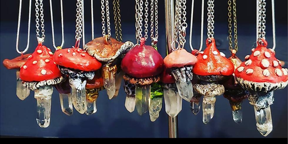 Crystal Mushroom Pendant LIVE ONLINE Workshop