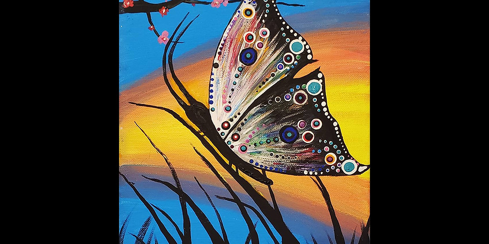 Butterfly Fields Canvas ONLINE INTERACTIVE Class