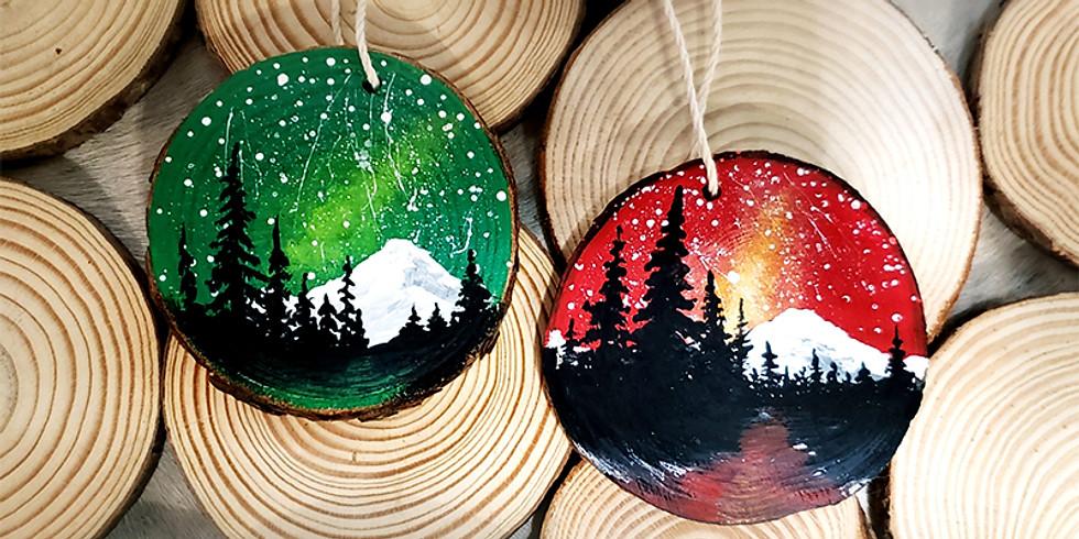 Starry Night Rustic Wood Ornament LIVE ONLINE Workshop