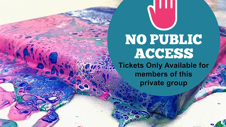 PRIVATE BACHELORETTE PARTY (NO public tickets available): Paint Pouring IN-STUDIO Workshop