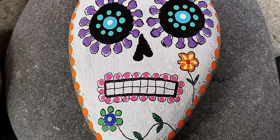 Sugar Skull Stones Halloween Paint Party