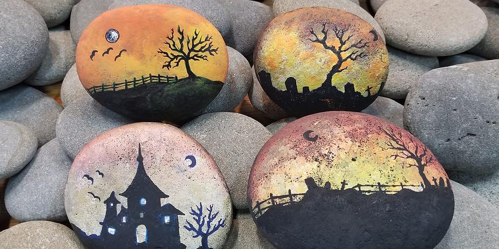 Spooky Silhouettes Stones Workshop