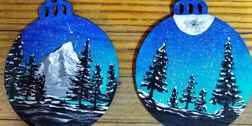 Wintry Night Wood Ornaments Workshop
