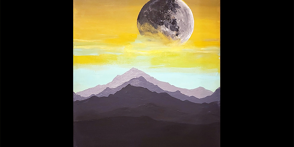 Moon Mountain Canvas LIVE ONLINE Interactive Workshop