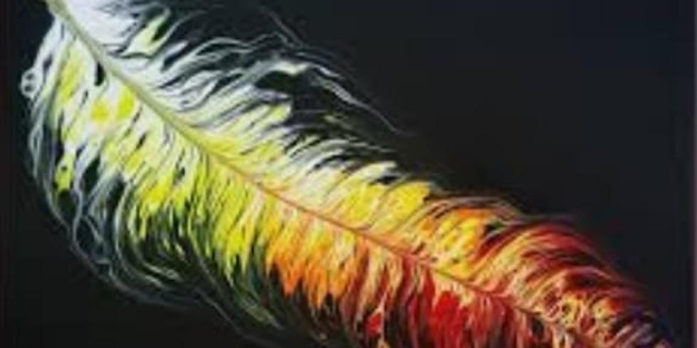 Fancy Feathers Fluid Art - Acrylic Pour Workshop