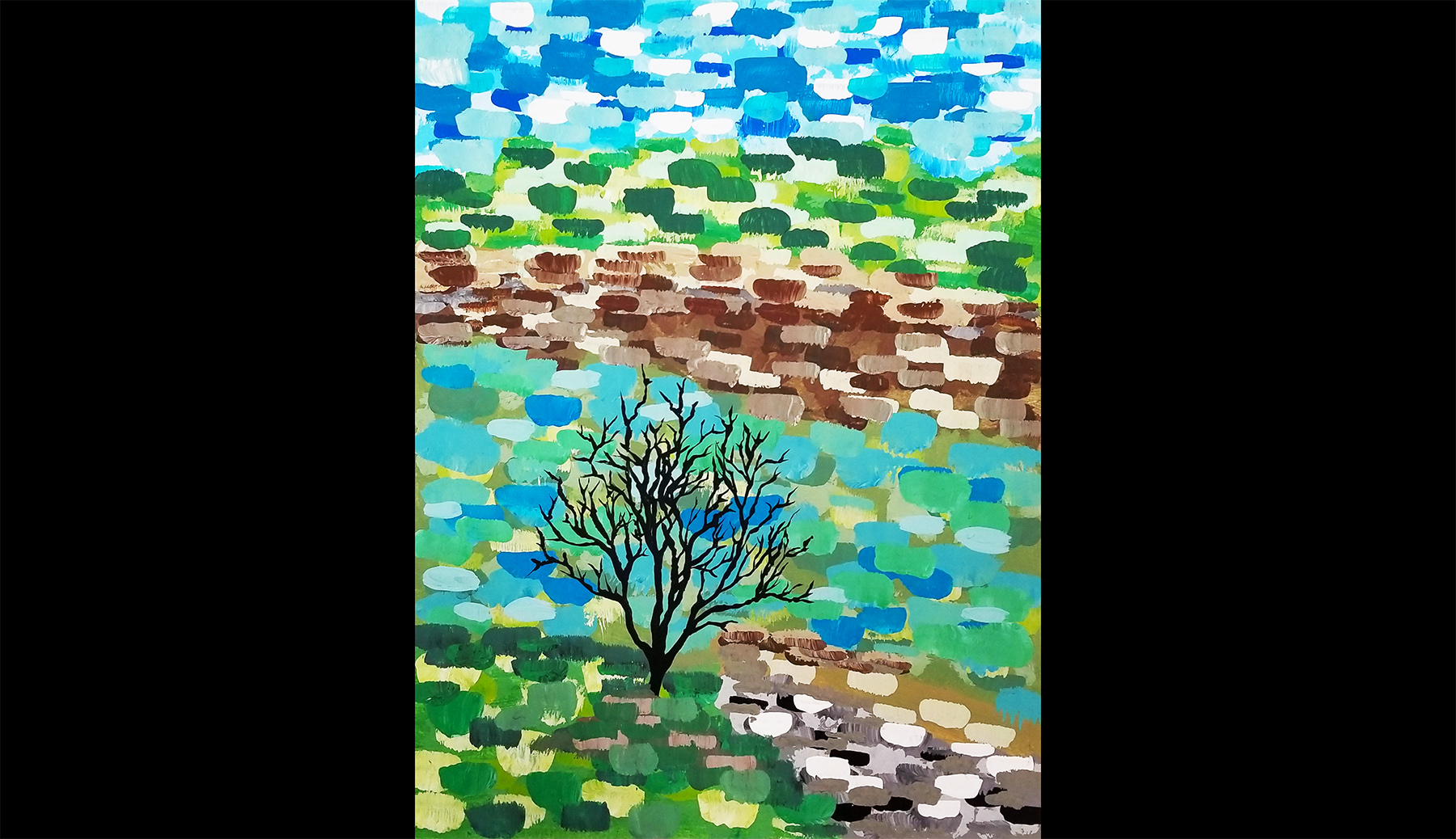 The Color Tree Block Painting Canvas Workshop