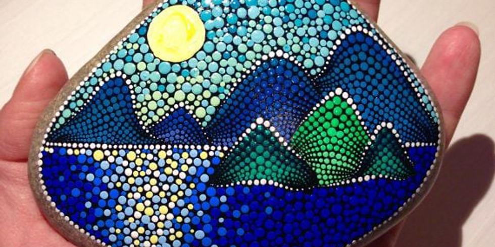 Mystical Mountains Dot Art Workshop