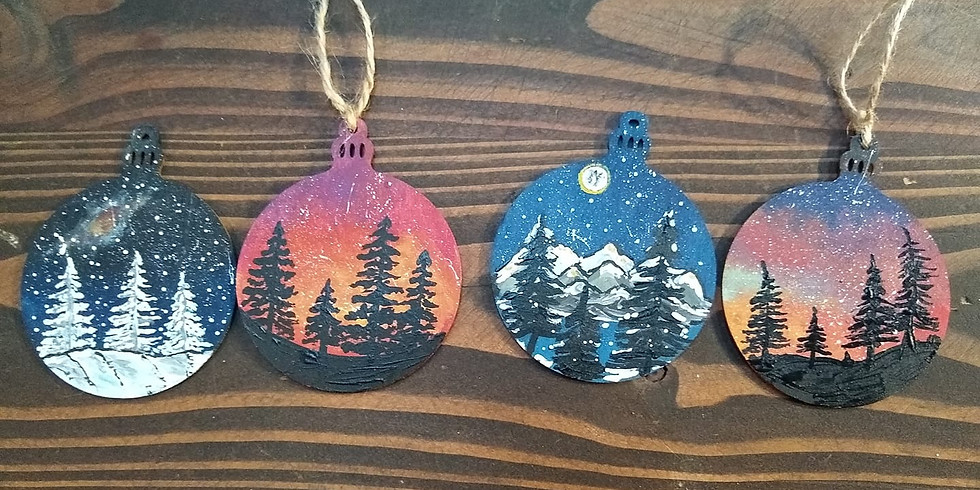 Starry Night Wooden Christmas Ornaments Workshop