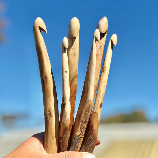Hand Carved Crochet Hooks