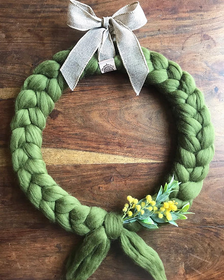Chunky Wool Wreath