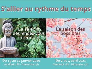 """""""LA SAISON DES RENDEZ-VOUS EXTERIEURS"""" Du 15 au 17 janvier 2021."""