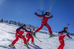 Chabanon ESF Parapente ski Francois Ragolski Florient andreys Alexi Isoard Julien Gibert Alex Giraud