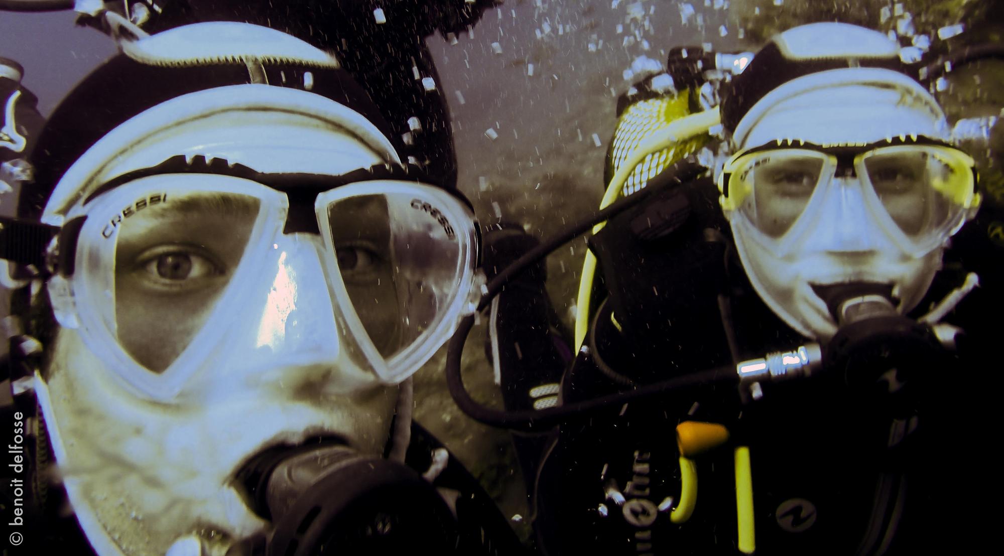 plonger sous marine Francois et Loraine el hierro