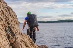 Francois V8 climbing Croatia 2