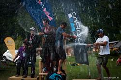 Podium Acrojam paragliding Competition Francois Ragolski et Tim Alongi vainqueur de la coupe du mond