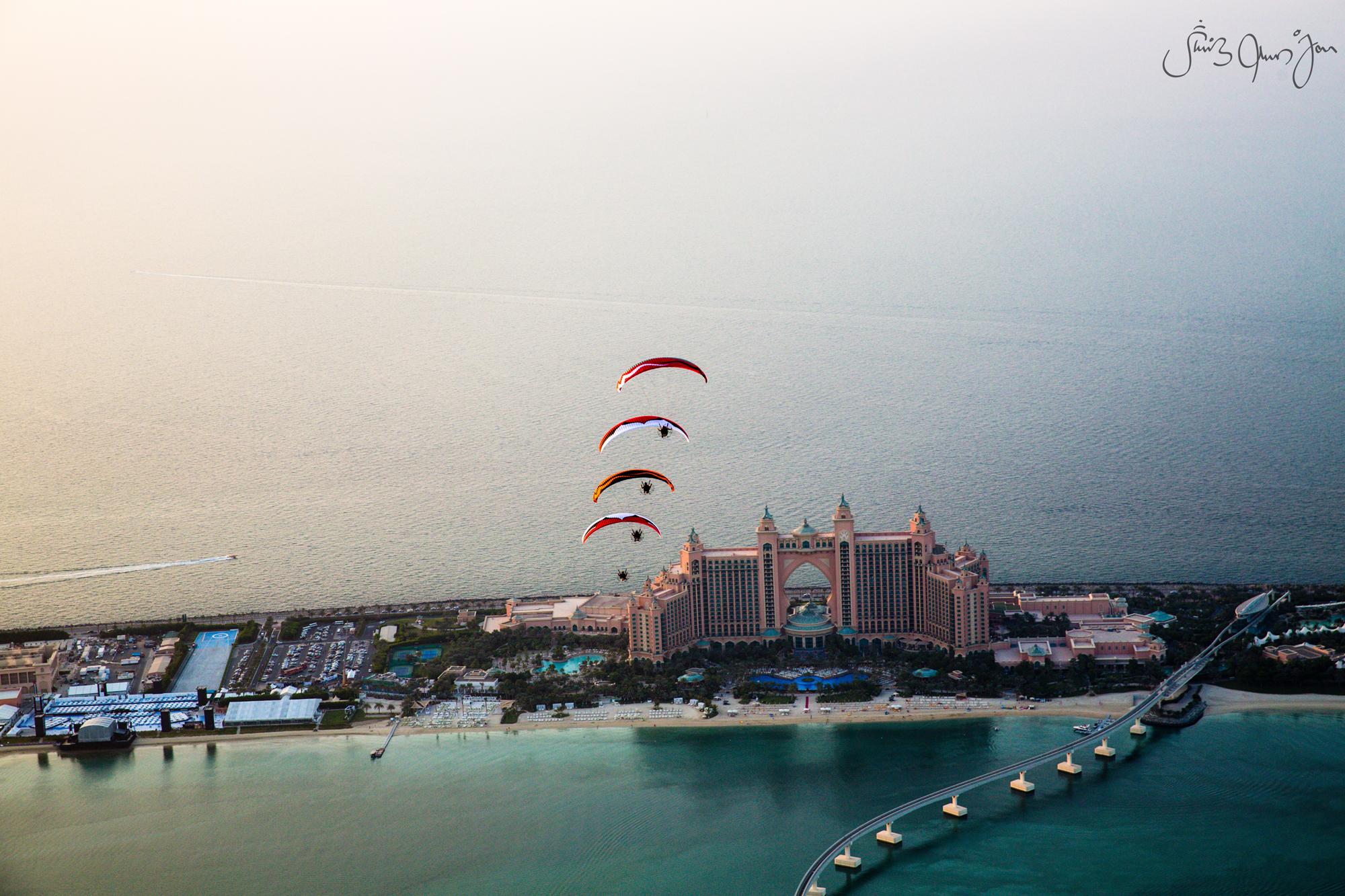 WTB-6613 Skyhub paramotors Palm Dubai marina Francois ragolski Martin schricke