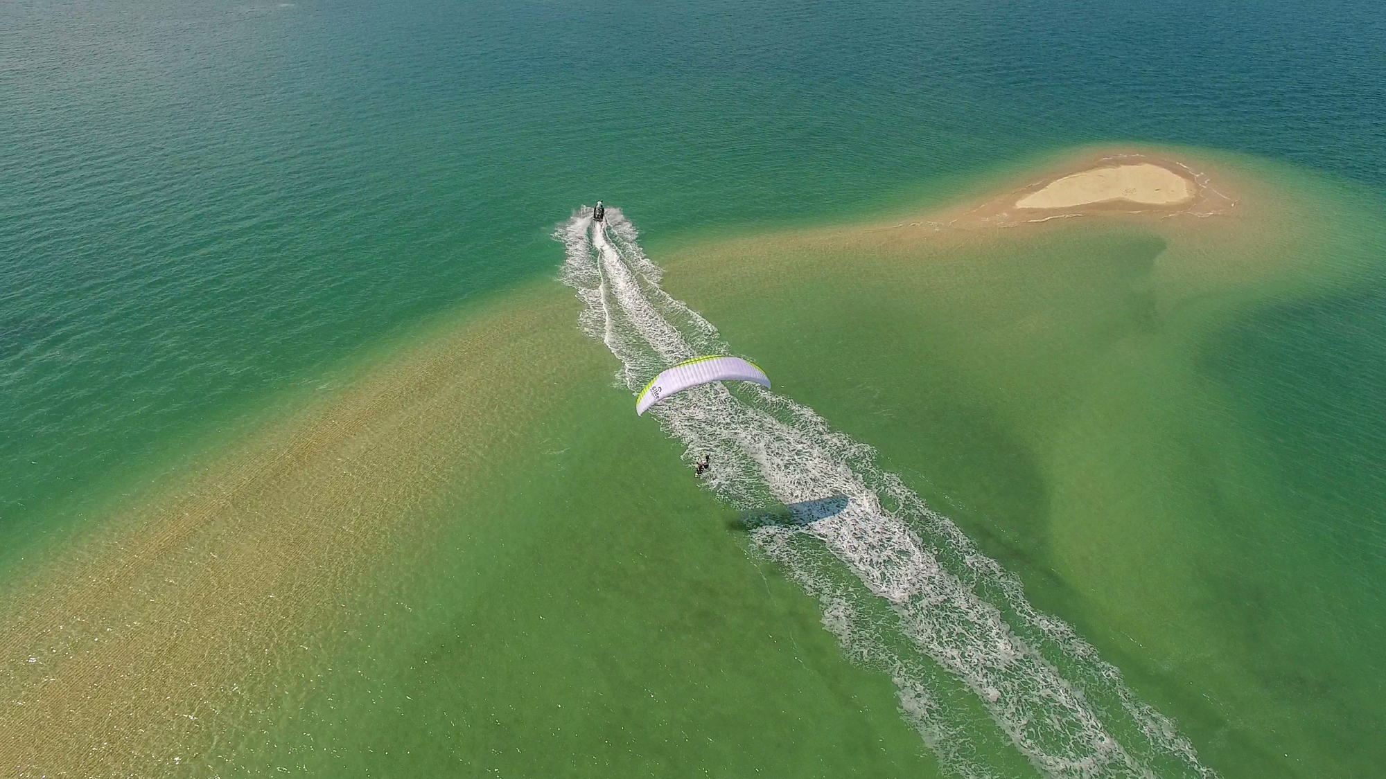 Don't Try This at Home James Bond Martin Schricke Francois Ragolski Jetski paragliding island