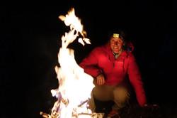 Loraine humeau husky and stoots feu le soir au bivouac The Himalayan Paragliding Line (1 of 1)