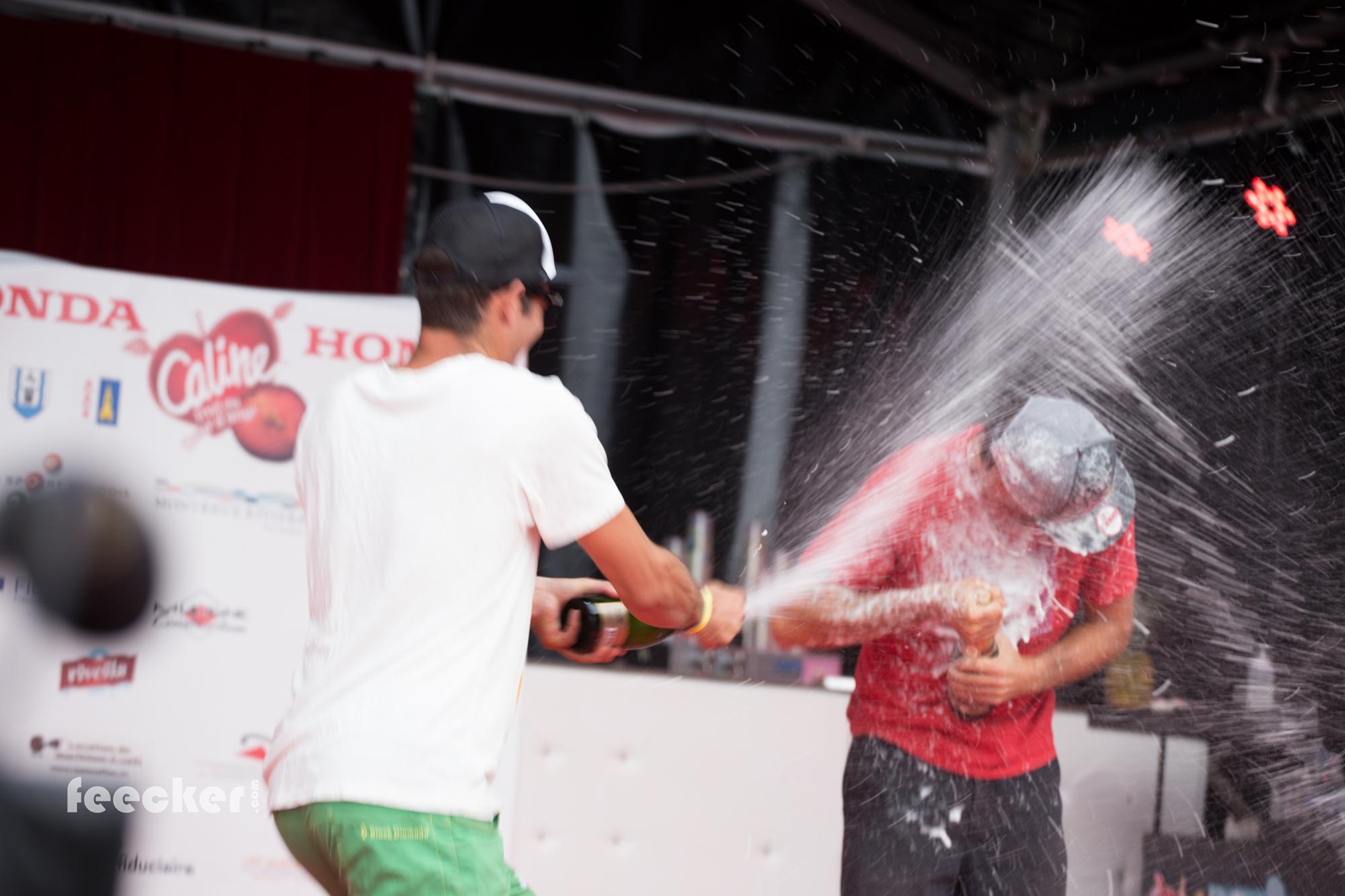 Podium Sonchaux acro Show Horacio Llorens Francois Ragolski  champagne shower