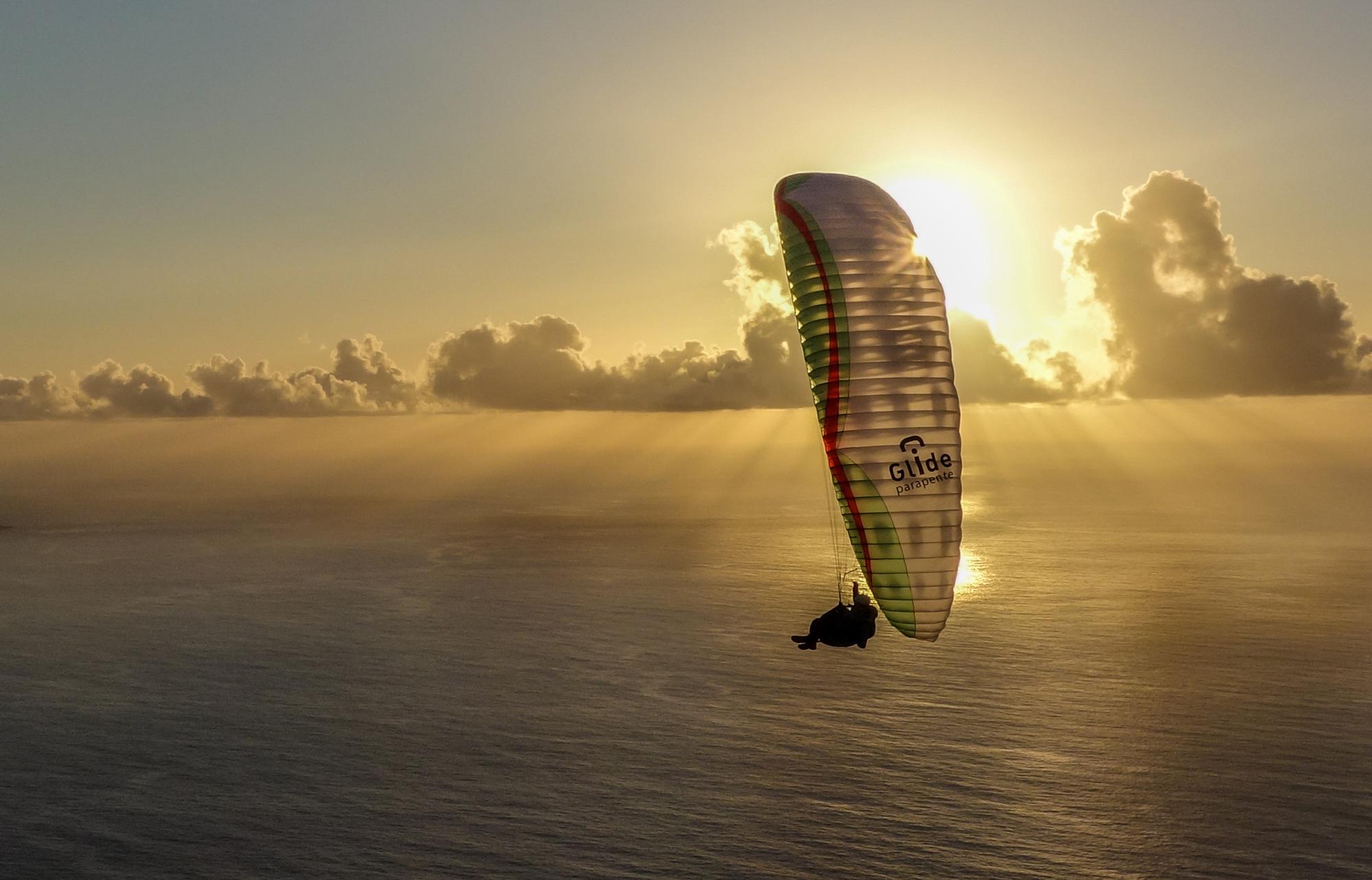 El Hierro parapente Francois Ragolski sunset 2