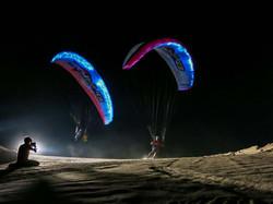 Dubai 2015 Martin Schricke and Francois Ragolski Paragliding by Night