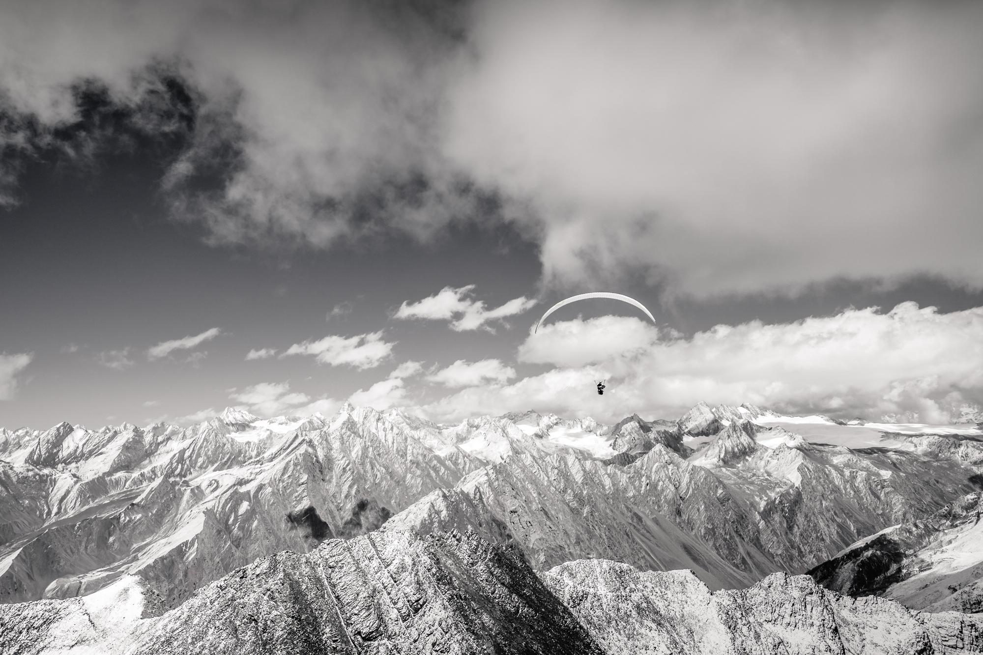 Francois ragolsi at 5000m in Himalaya Spice altirando
