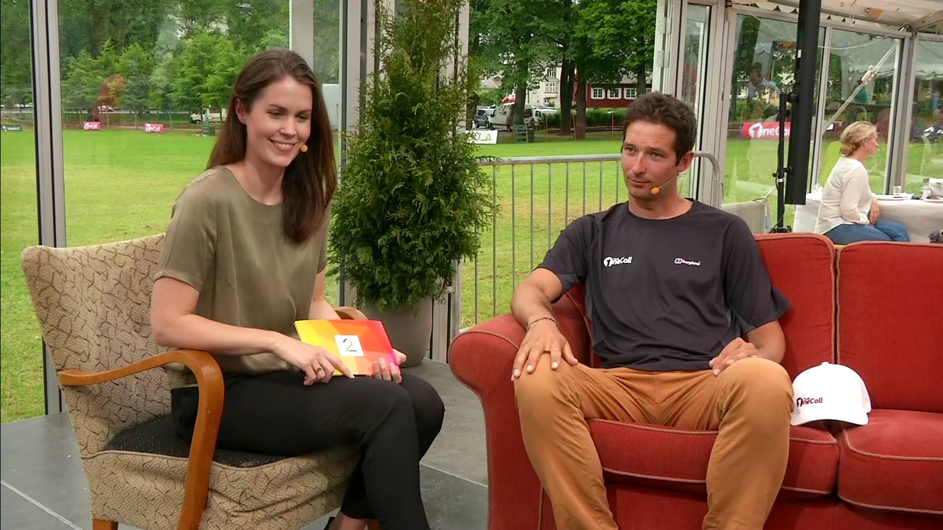 Interview on the National TV 2 Sporten chanel
