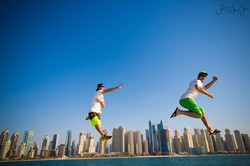 Dubai 2015 Martin Schricke and Francois Ragolski SkydiveDubai Runway on the Runway