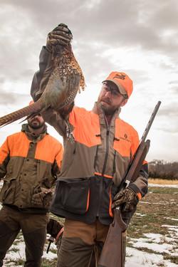 A pheasant hunter at Stukel's