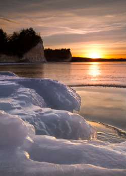 Ice on Lewis and Clark Lake