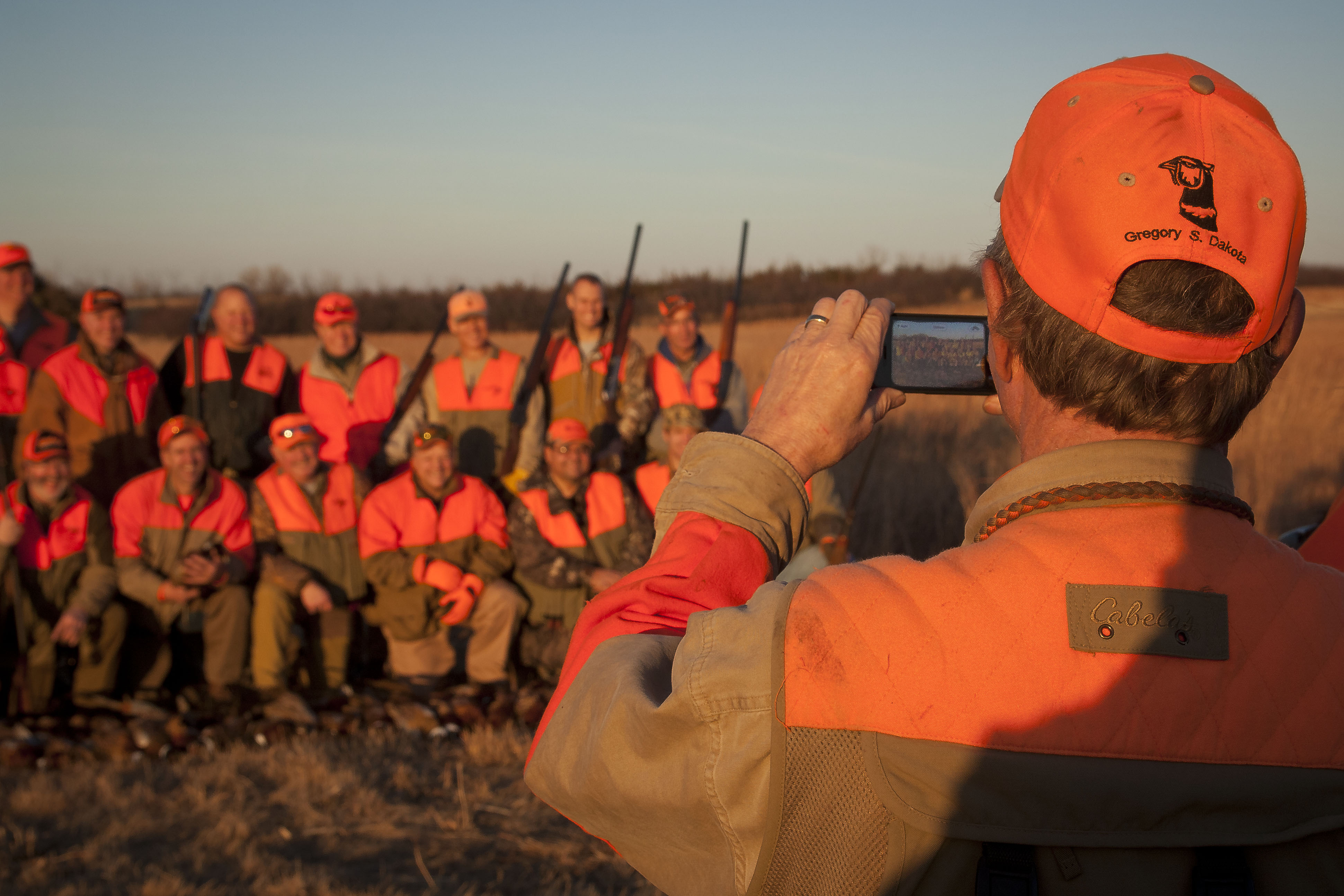Pheasant hunting party at Stukel's