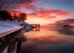 Winter scene on the Missouri River