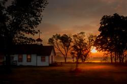 Peaceful schoolhouse