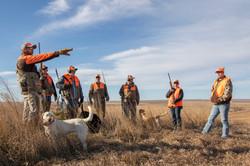 Pheasant hunting crew