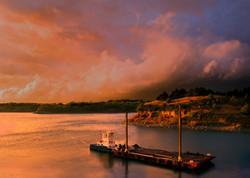 Ft. Randall Dam tugboat and barge