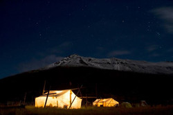Elk Camp in the WY wilderness