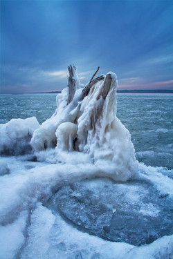 Lewis and Clark Lake Ice