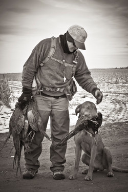 Hunting guide and his trusty partner