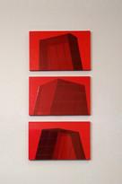 """ 3 rote Häuser"",  2004"