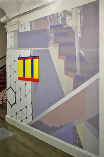 zweiteilige Wandinstallation, diverse Materialien