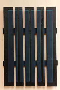 """blauer Bildträger"", 100x70x8cm, Acryl auf Holz, 1997"