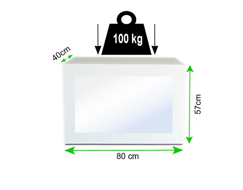Koš na prádlo se zatížením 100 kg.
