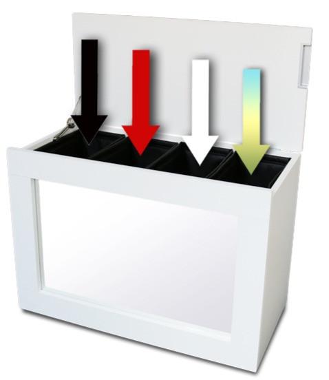 Koš na prádlo s možností třídění prádla podle barvy nebo materiálu