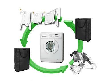 vak na mokré i suché prádlo