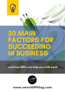 20 main factors for succeeding in busine